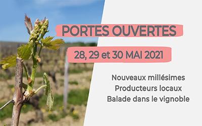 Portes ouvertes au Domaine de Bois Mozé les 28, 29 et 30 mai 2021 de 10h à 20h.