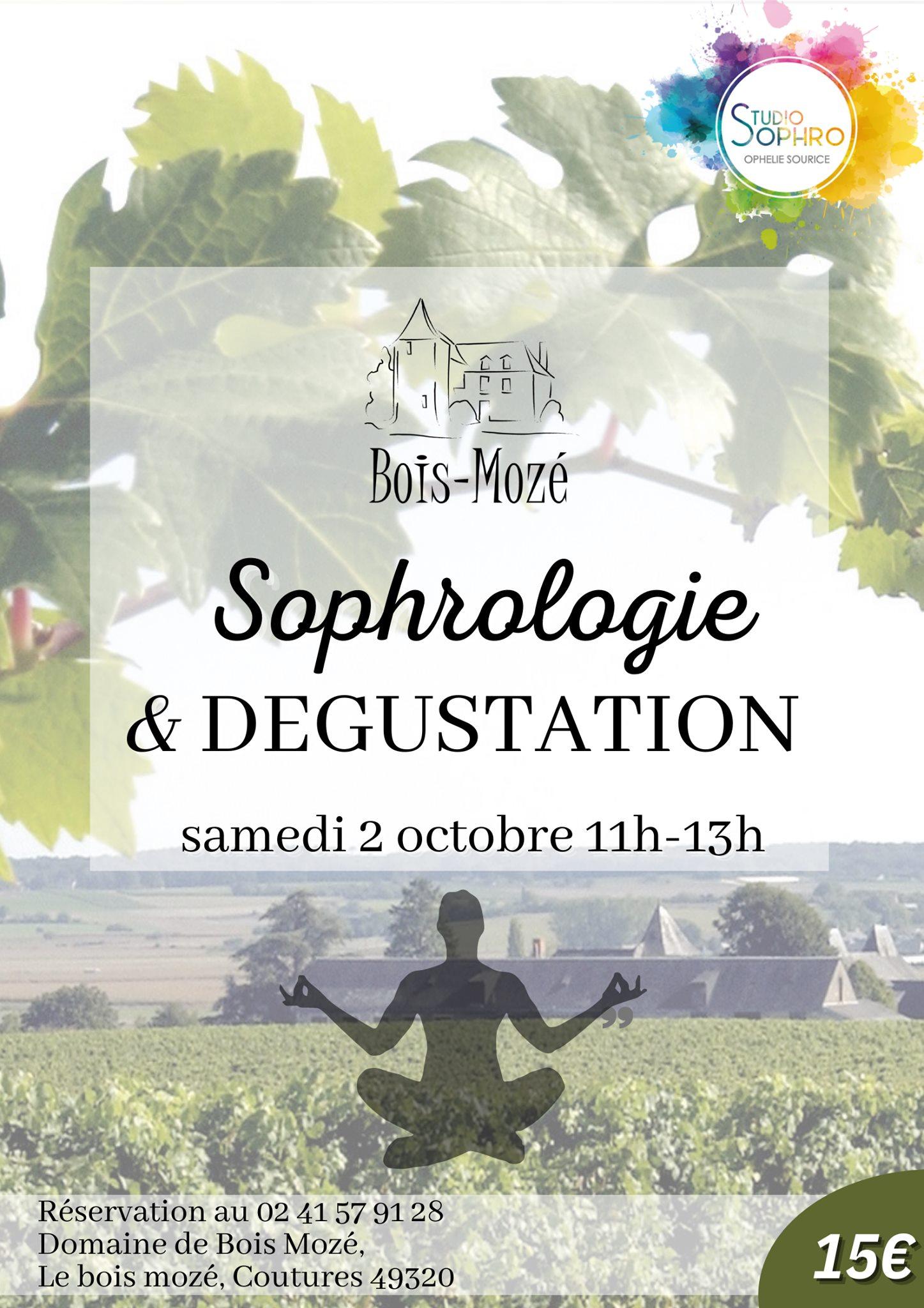 Événement à Bois Mozé : Sophrologie dans les vignes le 2 octobre 2021.